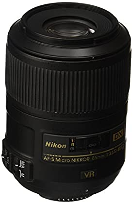 Nikon AF-S DX Micro 85mm F3.5 G ED - Objetivo con montura para Montura F de Nikon (distancia focal fija 127.5mm, apertura f/3.5, estabilizador de imagen)