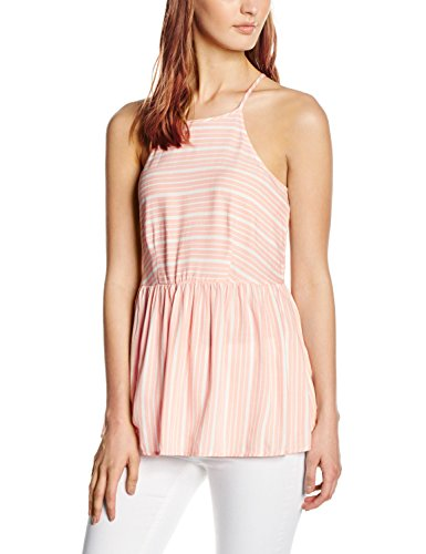 New Look Damen Top Peplum Cami, Orange (Burnt Orange), Gr. 38 (10 UK) (Cami Orange)