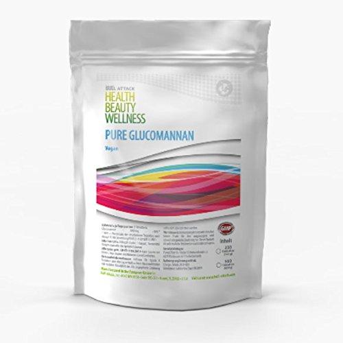 PURE GLUCOMANNAN | 250 Tabletten (VEGAN) | Vorratspackung XL | 100% natürlicher Appetitzügler | Stoppt Hunger-Attacken Gewichtsreduktion | Reine Konjak-Wurzel | Gesund Abnehmen