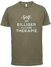 Golf ist billiger als eine Therapie - Herren T-Shirt - 13 Farben