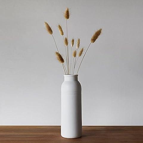 Beata. F Keramik Einfach Wohnzimmer Craft Jewelry Weiß–Burning Keramik Wasser Blumenarrangement Vase Ornament.