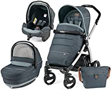 Cochecito Combi [babyschale + cochecito + Sportwagen] portatil Plus Pop Up Peg Perego película Denim