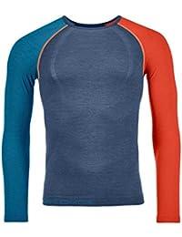 Ortovox 120 Comp Light Long Sleeve M Camiseta térmica, Hombre, Night Blue, M