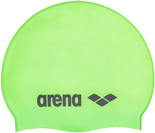 Arena Kinder Badekappe Classic Silicone Junior 91670 One size Grün/Schwarz