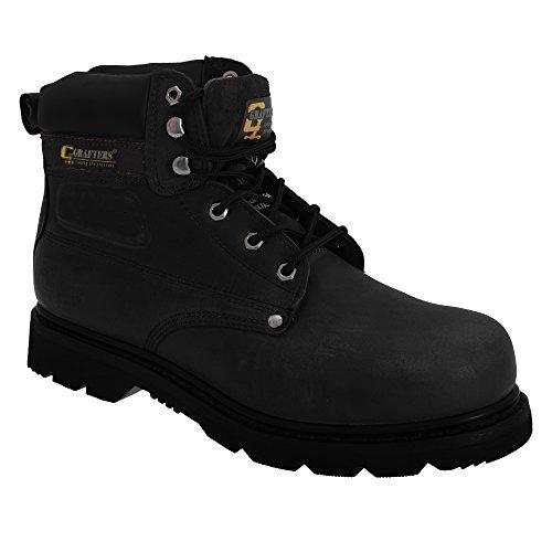 Grafters - Chaussures montantes de sécurité - Homme Noir