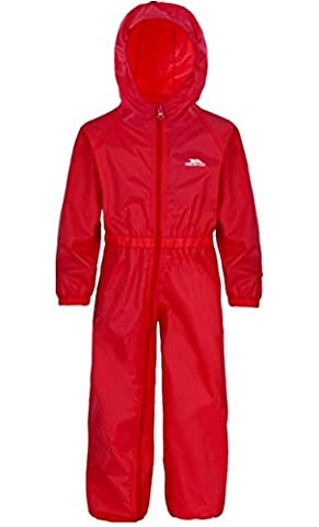 TRESPASS BUTTON SUIT WATERPROOF PUDDLE ALL IN ONE RAINSUIT BOYS GIRLS KIDS CHILDS CHILDRENS (5-6 Years,