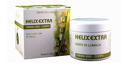 Helix Extra Crema Viso Bava di Lumaca 100 % Made in Italy 30ml coadiuvante acne rughe cicatrici macchie della pelle smagliature verruche - anti age anti-età antirughe ristrutturante idratante antietà antiage anti-age