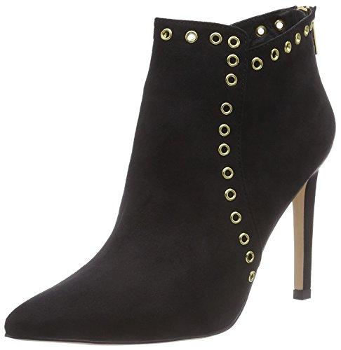 La Strada Schwarze Suède-look Stiefeletten, Bottes Classiques femme Noir (2201 - Micro Black)