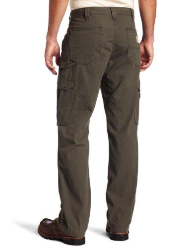 Carhartt Nouveau Pantalon Cargo 100% coton armé Ripstop avec renforts Cordura Nouvelle Coupe - Black - B342 Cotton Ripstop Pant grün