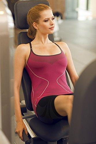 Brubeck Soutien-gorge de fitness (ski alpin, ski de fond, cyclisme, yoga, pilates, TaiChi, méditation, sports de combat...) - CM10070 / ruby