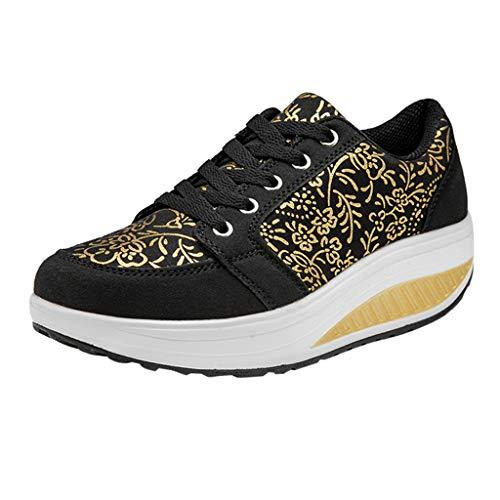 best website ba676 d5868 LILIGOD Frauen Erhöhen Wedges Shoes Swinging Platform Sneakers Absatz  Slippers Schuhe verstärken Plateau Sport Freizeit Sandals