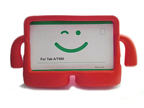 "Vendopolis Funda para Tablet Samsung Galaxy Tab T580 10"" - 10,1"" para NIÑOS Goma iBuy iGuy (Rojo)"