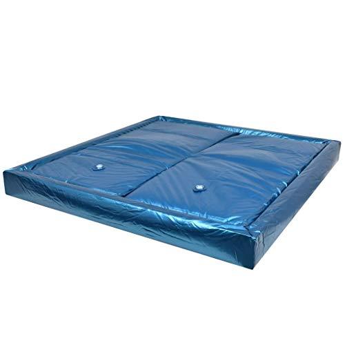 Festnight Wasserbettmatratzen-Set mit Einlage + Trennwand   Softside Wasserbett Matratze   Wasserbett Wasserkern   200 x 220 cm F3 - Wasserbett-rahmen