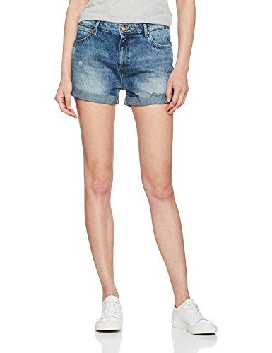 Wrangler Damen Shorts Boyfriend, Blau (Vintage Worn 5Z)  (Herstellergröße:XS) - Wrangler Damen Jeans