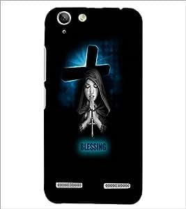 PrintDhaba Praying Girl D-3515 Back Case Cover for LENOVO LEMON 3 (Multi-Coloured)