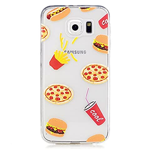 MUTOUREN Samsung Galaxy S6 TPU case cover Ultra thin anti-shock anti-scratch extream thin Durable protective Shockproof -Hamburger Cola pizza French