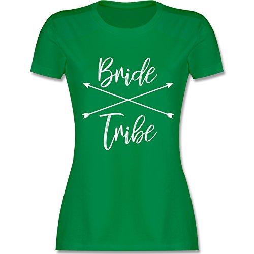 JGA Junggesellinnenabschied - Bride Tribe - Damen T-Shirt Rundhals Grün