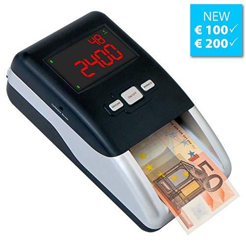 Geldprüfer Geldprüfgerät Euro Banknotenprüfer Geldscheinprüfer SR-2100 von Securina24® (schwarz - silber - 1080 gr)