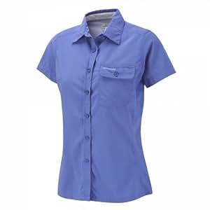 Craghoppers NosiLife Darla Women's Short Sleeve Shirt Blue Bleu - blue violet Size:44