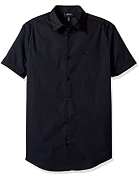 Armani Jeans Men's Dark Navy Short Sleeve Shirt
