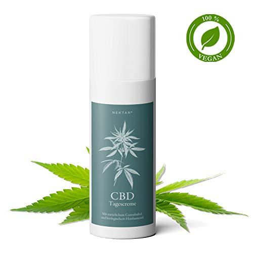 Nektar CBD Tagescreme Anti Aging für Mischhaut mit Schutz für den gesamten Tag, hilft bei trockener, sensibler & empfindlicher Haut, hat beruhigende und straffende Wirkung - Naturkosmetik pH-neutral - Herren-nektar