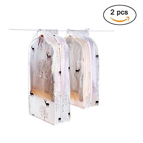 Bolsa de vestidos de Peva transparente fundas para Pack de 2, 1medio y 1grande, reno, Reindeer
