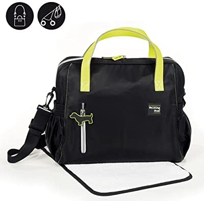 Walking Mum Urban Baby - Bolso cambiador, color negro