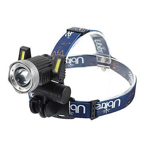 LED Kopflampe Wasserdicht LED Stirnlampe 1000 Lumen USB Wiederaufladbare Headlight, 3 Helligkeiten, 90° Verstellbar Stirnlampen für Laufen, Wandern, Camping, Angeln, Tischarbeit(Schwarzer Stil)