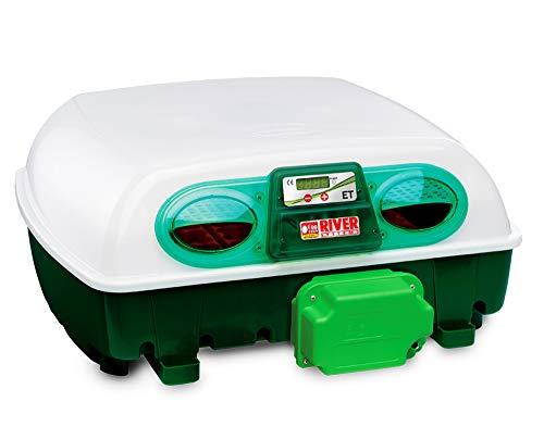 Incubatrice per uova automatica digitale con girauova, capacità 49 uova di gallina, anatra, oca, tacchino, 196 uova di quaglia,rettili,tartaruga, basso consumo 2,3kw/giorno, made in italy