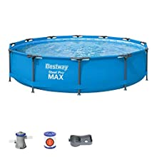 Bestway BW56416GB-20 Steel PRO Max-Set di Piscina, 30,5 x 76,2 cm, Blu