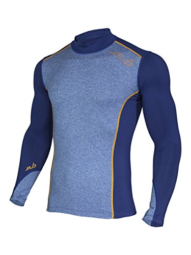 Blau Thermal Long Sleeve Top (Sub Sports Herren Thermo-Langarmshirt / Unterhemd, Kompressionspassform - Dunkelblau - Large)