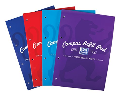 Oxford Campus A4 Size Refill Pad, 140 Pages, Assorted Colours, Pack of 5 Test