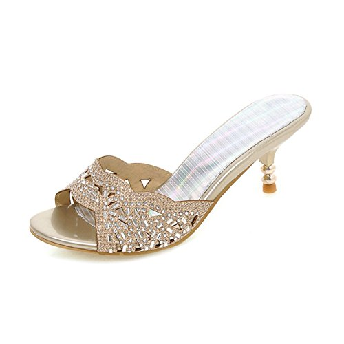 estate moda scarpe/Carattere strass Sandali e ciabatte/hollow out scarpe a spillo e mamma A