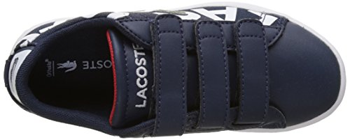 Lacoste Carnaby Evo 117 1 Spc Nvy/Wht, Basses Mixte Enfant Multicolore (Nvy/Wht)