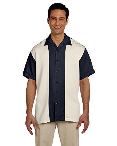 Harriton para hombre Bahama de dos tonos Cable campamento camisa
