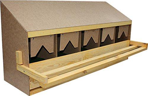 Legenest, Legenester, Abrollnest, Hühnernest, Nest, Einlegematten 5 Legebuchten (Oberteil) - 2