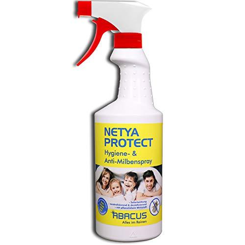 ABACUS NETYA Protect 750 ml (4140) - Hygienespray Anti-Milbenspray Hausstaubmilben-Spray Matratzenspray Bettdecken Kissen Polstermöbel Teppich Gardinen Kuscheltieren