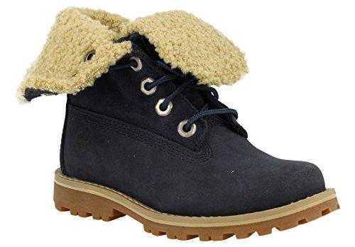 Timberland Unisex-Kinder 6 in Wp Shearling Bo Rollkragen Schuhe Blue