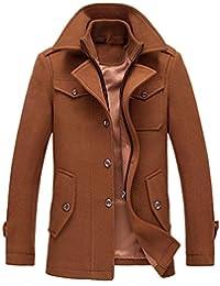 e223b7fee6e6 YOUTHUP Herren Wintermantel mit Stehkragen und Hochwertige Materialqualität  Lange Jacke