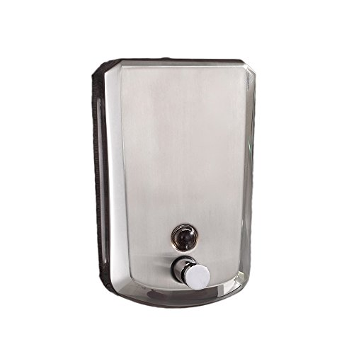 Edelstahl-Manuelle Wandmontage Seifenspender Silber Bürste Nickel Badaccessoires Modern Wohnen Seifenspender 500ML 18022-500 (Bürsten-nickel-seifenspender)