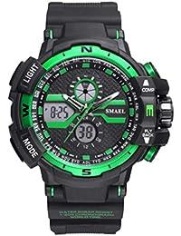 Watch Reloj de los Hombres de Moda al Aire Libre de Deportes multifunción Impermeable Reloj LED