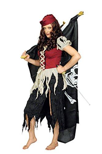 iratenkostüm Damen Piratin Seeräuberin mit Kopftuch Fasching Lumpen Piratin Kostüm Größe 40/42 ()