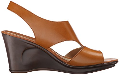 Naturalizer Orrin Femmes Cuir Sandales Compensés brown