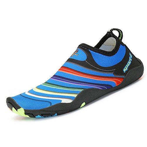 SAGUARO Kinder Badeschuhe Aquaschuhe Schwimmschuhe Wasserschuhe Strandschuhe Water Shoes für Jungen Mädchen, 28 EU/Label 29 Schwarz