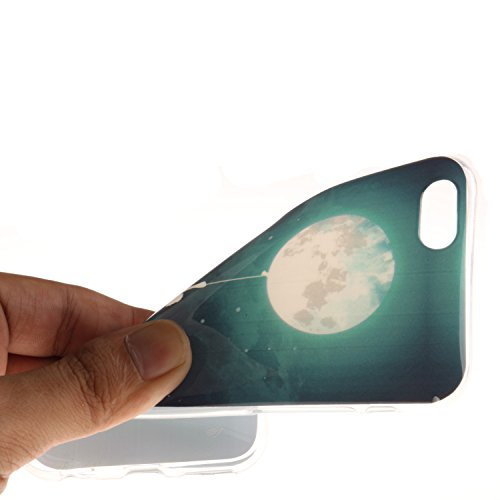 Coque Housse pour iPhone 6 6S (4,7 Zoll), iPhone 6 6S (4,7 Zoll) Coque Silicone Etui Housse, iPhone 6 6S (4,7 Zoll) Souple Coque Etui en Silicone, iPhone 6 6S (4,7 Zoll) Silicone Transparent Case TPU  Balloon Lune