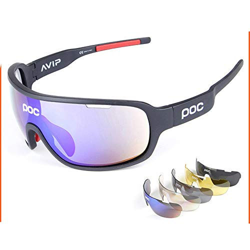 LCPG POC Outdoor-Sportarten für Männer und Frauen, um Sich vor Brillen zu schützen (Farbe : Schwarz)