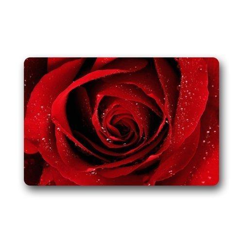 Alfombrilla Decorativa Moda Alfombra Rosa roja Estampado