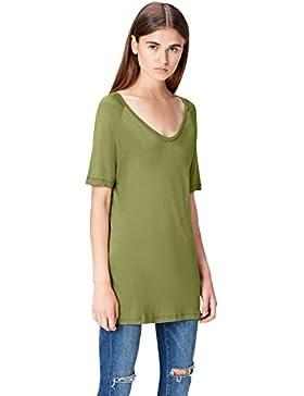 FIND Camiseta de Corte Cuadrado para Mujer
