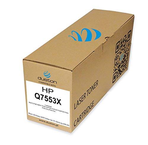 Q7553X, 53X Schwarz Toner kompatibel zu HP Laserjet M2727NF MFP P2014 P2015 P2015d P2015dn P2015n P2015x