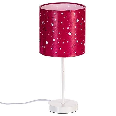 Lampe de chevet abat jour rose fuchsia